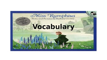 Miss Rumphius Vocabulary PowerPoint