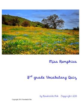 Miss Rumphius Vocabulary Quiz