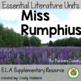 Book Unit: Miss Rumphius | Barbara Cooney Fiction Nonficti