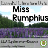 Miss Rumphius by Barbara Cooney Book Unit: Pairing Fiction
