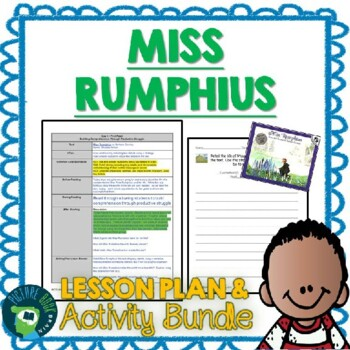 Miss Rumphius by Barbara Cooney Lesson Plan and Activities