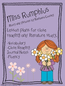 Miss Rumphius by Barbara Cooney Literature Pack [Common Core Aligned]