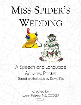 Miss Spider's Wedding Speech and Language Pack