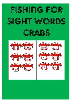 Fishing for Sight Words Crabs