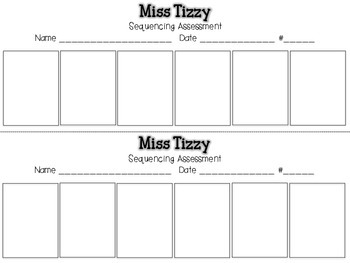 Miss Tizzy {Sequencing Assessment} {Whole-Group or One-on-One}