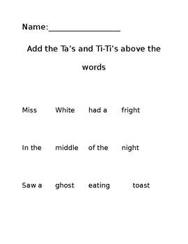 Miss White Rhythm Assessment FREEBIE