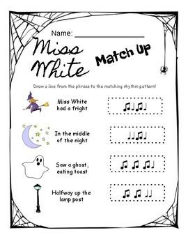 Miss White Rhythm Worksheets