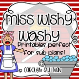 Miss Wishy Washy : NO PREP Printables Perfect for Sub Plans