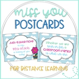 I Miss You Postcards Distance Learning