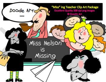 """""""Miss"""" ing Teacher Clipart Pack"""