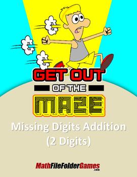 "Missing 2 Digits Addition Mazes ""Fun Math Worksheets"""