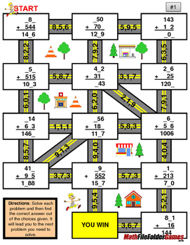 "Missing 3 Digits Addition Mazes ""Fun Math Worksheets"""