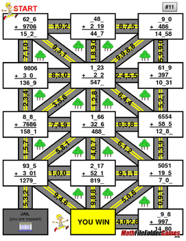 "Missing 4 Digits Addition Mazes ""Fun Math Worksheets"""