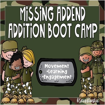 Missing Addend Addition Boot Camp (50% off for 48 hours!)