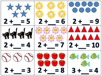 Addend Missing Addition Equation Hands On Math Center Activity