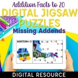 Missing Addend Addition Facts to 20 Digital Math Facts Jig