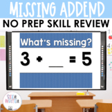 Missing Addend - Addition Math Center Powerpoint See it Write it