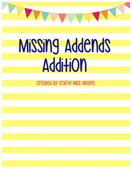 Missing Addend Addition & Scoot Game