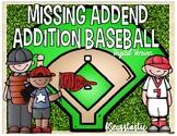 Missing Addend Baseball