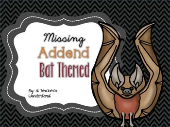 Missing Addend- Bat themed