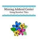 Missing Addend Center