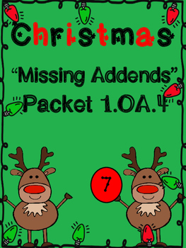 Christmas Missing Addend Christmas Packet