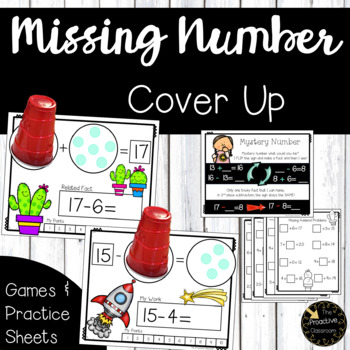 Missing Number Cover Up Game and Practice Sheets