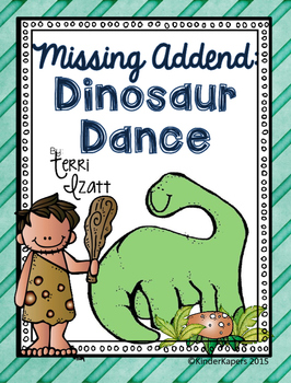 Missing Addend....Dinosaur Dance