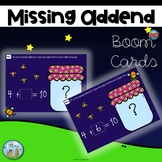 Missing Addend Distance Learning Boom Cards