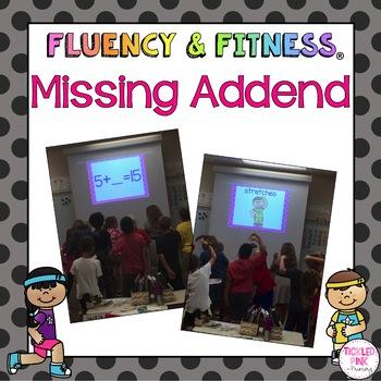 Missing Addend Fluency & Fitness Brain Breaks Bundle