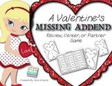 Missing Addend {K/1 Valentine's Day Math Game/Activity} #kinderfriends