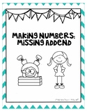 Missing Addend: Making Numbers Handout