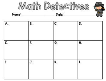 Missing Addend Math Detectives