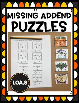 Missing Addend Puzzles OA.8