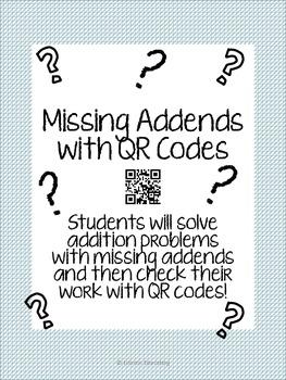 Missing Addend QR Activity