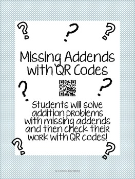 Missing Addend QR Activity