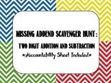 Missing Addend Scavenger Hunt or Center Activity