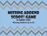 Missing Addend Scoot Game -- Math, Addition, Review