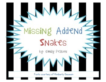 Missing Addend Snakes