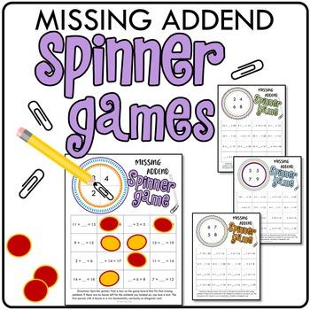 Missing Addend Spinner Games