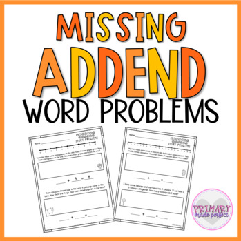 Missing Addend Story Problems Within 20