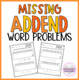 Missing Addend Word Problems Within 20  1st Grade Word Problems