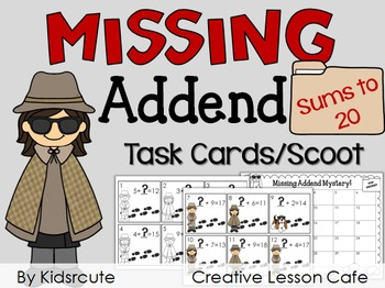 Missing Addend Practice Activity {Sums to 20}
