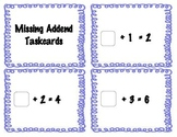 Missing Addend Task Cards