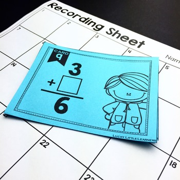 Missing Addend Task Cards