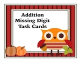 Missing Addend Task Cards Fall Themed