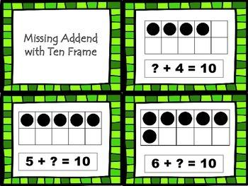 Missing Addend Task Cards - Freebie