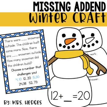Missing Addend Winter Craft