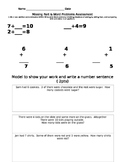 Missing Addend Word Problems Assessment