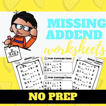 Missing Addend Worksheets